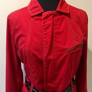 CAbi Red Casual Zipper Style Jacket Style no. 401